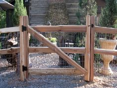 cedar split rail  5 foot wide gate