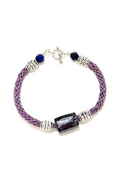 Purple Braided Kumihimo Bracelet with by JewelryDesignsbyBRC, $18.00