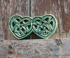 Celtic Hearts Stone Sculpture Green Celtic by InnovativeStoneArt, $8.00