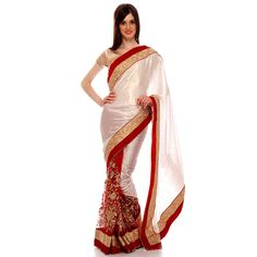 Upto 50% off on Red and White Party wear Net Saree at #Celebstall  #saree #netsaree #partywear #weddingseason #sale #discount #fashion #style #trend  www.celebstall.com http://goo.gl/TYpFJw