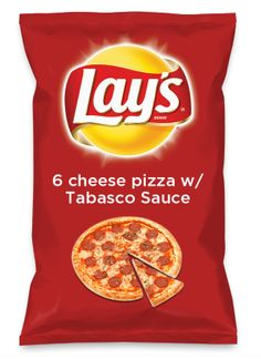 Wouldn't 6 cheese pizza w/ Tabasco Sauce be yummy as a chip? Lay's Do Us A Flavor is back, and the search is on for the yummiest flavor idea. Create a flavor, choose a chip and you could win $1 million! https://www.dousaflavor.com See Rules.