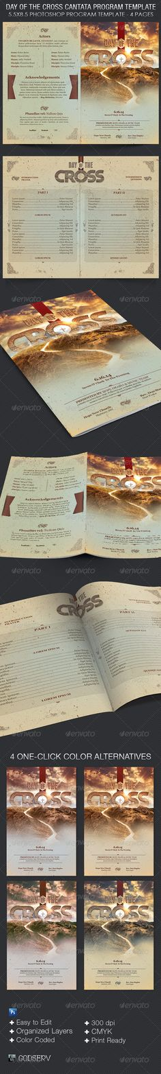 Resurrection Celebration Church Flyer Template Koncerty a Photoshop - church program