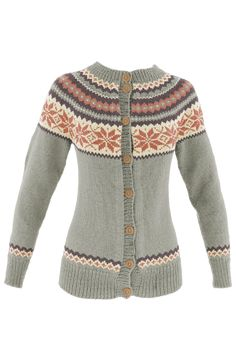 Fargevelger for strikking av Nancy - strikkefarger Knitting Machine Patterns, Fair Isle Knitting Patterns, Jumper Patterns, Knitting Stitches, Knitting Yarn, Icelandic Sweaters, Fashion Outfits, Womens Fashion, Bunt