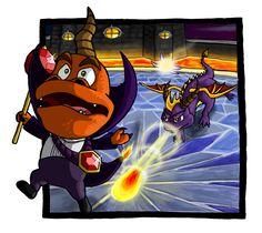 Spyro vs. Ripto by Niicchan.deviantart.com on @deviantART