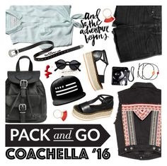 """""""Pack for Coachella!"""" by the92liner ❤ liked on Polyvore featuring H&M, Abercrombie & Fitch, Polaroid, Topshop, Venessa Arizaga, coachella, coachella2016 and packforcoachella"""