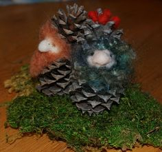 Pinecone Gnomes - free tutorial on our blog www.livingcrafts.com/blog