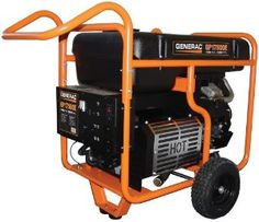 #PortableGasPoweredGenerator With #ElectricStart   Locking fold-down handles and wheels  *Non-CARB Compliant/Not For Sale In California but they haven't been thru #Sandy or #Katrina - YET!  Featuring a compact, wheeled frame for easy transport.  #Generac 5735 GP17500E 26,250 Watt 992cc OHV Portable Gas Powered Generator With Electric Start     $2,995.95
