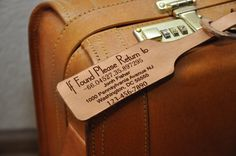 Personalized Leather Luggage Tags with by MyLeatherGiftToYou