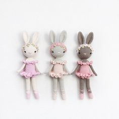 Kikalite crochet pattern Ballerina Bunny Charlotte PDF - 5 pages  •••••  Easy to follow instructions.  •••••  Size: ~ 28cm using Schachenmayr Catania and a 2,5 mm hook  •••••  Language: English (US terminology)  •••••