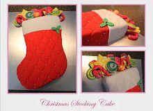 Christmas Stocking Cake Christmas Stockings, Birthday Cake, Cakes, Sweet Stuff, Holiday Decor, Home Decor, Homemade Home Decor, Birthday Cakes, Pastries