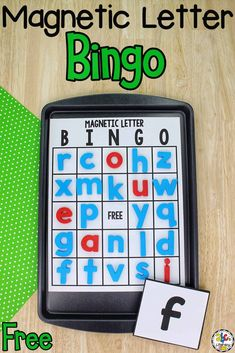 Are you looking for a different way to play Bingo? Try this Magnetic Letter Bingo Game! It's an interactive game for your pre-readers who are learning the ABC's. Games always make learning fun too! This Magnetic Letter Bingo Game is an educational bingo game for kids to play in small groups, with a partner, or even by themselves as an enrichment activity. Click on the picture to get the free printable game board! #bingogame #learningtheabcs #magneticletters #preschool #letterrecognition