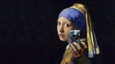 The Scourge of the Selfie - Love It! This mashup of Vermeer's Girl With A Pearl Earring by an anonymous artist went viral