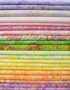 Rainbow Sherbet Batik Strips js20-015