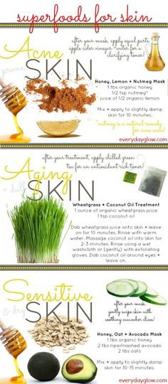 3 food recipes for your skin