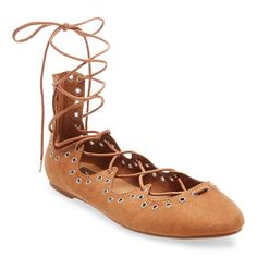 Women's dv Angelique Ghillie Studded Lace Up Ballet Flats -