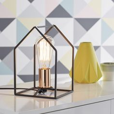 Lampe Home BRILLIANT, métal noir, 60 W #leroymerlin #lampe #tendance #scandinave #cuivre #deco #ideedeco #madecoamoi
