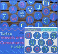 Boy Mama Teacher Mama   Teaching Vowels and Consonants to Children