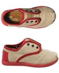 Fuschia Maddox Tiny Burlap Cordones Toms Shoe. Kids Toms For Kids.