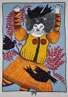 'Girl with Birds' : Barbara Hanrahan
