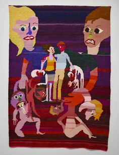 "Christina Forrer, ""Gebunden"" (2017), cotton, wool, and silk, 61 x 86 in"