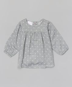 Look at this #zulilyfind! Gray Polka Dot Top - Toddler & Girls by Blossom Couture #zulilyfinds