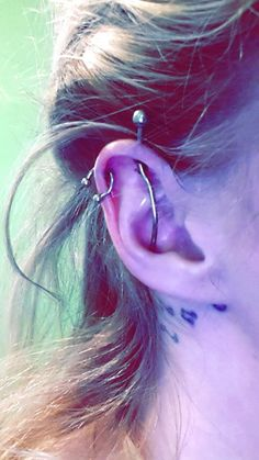 custom industrial and helix piercing