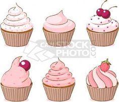 desenho de cupcake para pintar - Pesquisa Google