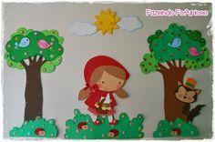 Fazendo Fofurices : Painel Chapeuzinho Vermelho