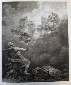 Bowyer Bible print 2247 The Ascent of Elijah. 2 Kings cap 2 vv 10-11. Loutherbourg Phillip Medhurst photo on Flickr.Bowyer Bible print 2247 The Ascent of Elijah. 2 Kings cap 2 vv 10-11. Loutherbourg Phillip Medhurst photo