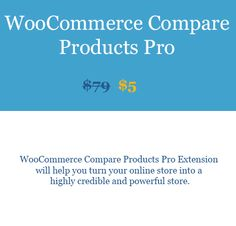 WooCommerce Compare Products Pro Extension woobeast