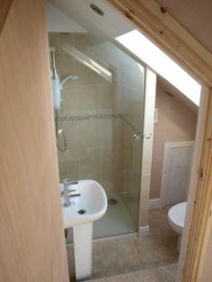 - Home 40 Creative Attic Bathroom Ideas Attic Shower, Small Attic Bathroom, Loft Bathroom, Upstairs Bathrooms, Bathroom Ideas, Loft Ensuite, Attic Bedroom Small, Remodel Bathroom, Bathroom Designs