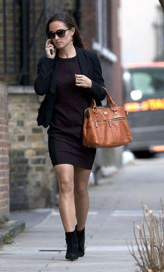 Pippa Middleton and her Modalu 'Pippa' grab in Tan www.modalu.com