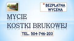 Mycie kostki brukowej, chodnika .Czyszczenie wysokociśnieniowe kostki brukowej, posadzki, chodników, podjazdów, tarasów. tel. 504-746-203, Wrocław, Oleśnica, Trzebnica, Długołeka, Czernica, Siechnice.