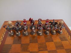 Chessmen Knights side from Great Siege of Malta 1565.Designed,Cast in Pewter and hand painted by J.Debono.