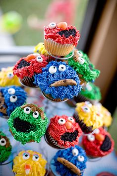 Sesame Street #cupcakes