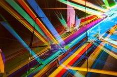 Stephen Knapphas been making work that is transformed by light for over thirty years, producing vibrant light installations he refers to as paintings. These large-scale works utilize minimal tools, harnessing simply light and dichroic glass to throw a multitude of colors against the walls and room.