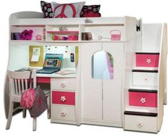 Buy Berg Furniture Play And Study Loft Bed With Staircase A Beds Bedroom Set Complete Selection Of 74