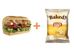 400 Calorie Fix Recipe: Subway Sandwich with Chips  http://www.prevention.com/weight-loss/diets/400-calorie-meals-weight-loss-is-simple-eat-400-calorie-meals/400-calorie-fix-meal-idea-easy-office-lunch