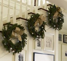 #wreaths instead of garland... #Christmas #Holidays