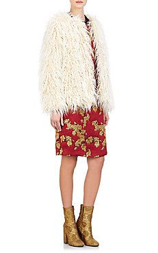 Dries Van Noten Faux-Fur Reese Coat