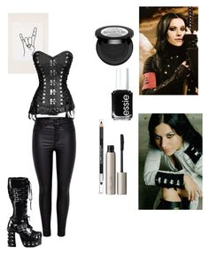 """Cristina Scabbia"" by nataliasommers ❤ liked on Polyvore featuring Essie, Ilia, The Body Shop, Urban Outfitters and Demonia"