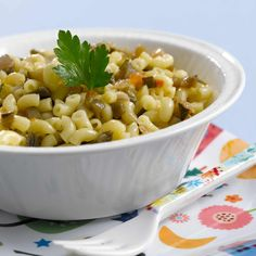 Découvrez la recette des coquillettes aux légumes