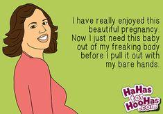 Totally Over it | hahasforhoohas.com #pregnancy
