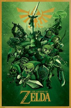 Legend of Zelda - Link - Official Poster. Official Merchandise. Size: 61cm x 91.5cm. FREE SHIPPING