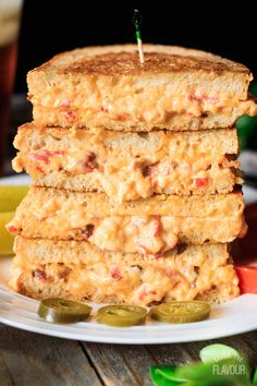 Grilled Pimento Cheese Sandwiches Savor the Flavour Grilled Pimento Cheese Sandwiches Savor the Flavour Judith Shinn judithshinn Sandwiches Pimento Cheese Sandwich a Southern style recipe that nbsp hellip Cheese tray Pimento Cheese Sandwiches, Homemade Pimento Cheese, Pimento Cheese Recipes, Bacon Recipes, Spicy Recipes, Sandwich Recipes, Steak Sandwiches, Grilled Sandwich, Southern Recipes