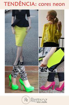 As cores neons e tons fluos estão em alta, Inspire-se e use-os na medida certa!
