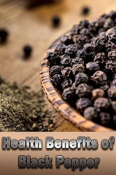 Top 6 Health Benefits of Black Pepper - All Day Long Health Black Pepper Health Benefits, Coconut Health Benefits, Healthy Man, Healthy Eating, Healthy Weight, Healthy Life, Tomato Nutrition, Nutrition Diet, Nutrition Guide