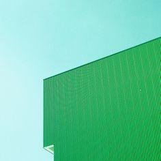 Studie Drei by Matthias Heiderich, via Behance Minimal Photography, Urban Photography, Color Photography, Textures Patterns, Color Patterns, Green Colors, Blue Green, Kelly Green, Bright Colors