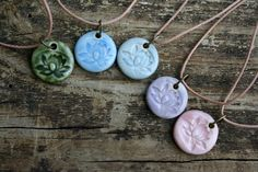 porcelain lotus pendant by earthformsbymarie on Etsy