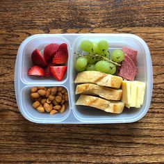 // Honey roasted peanuts + grapes + salami + medium white c Lunch To Go, Lunch Meal Prep, Healthy Meal Prep, Healthy Snacks, Healthy Eating, Healthy Recipes, Healthy School Lunches, Detox Recipes, Lunch Snacks